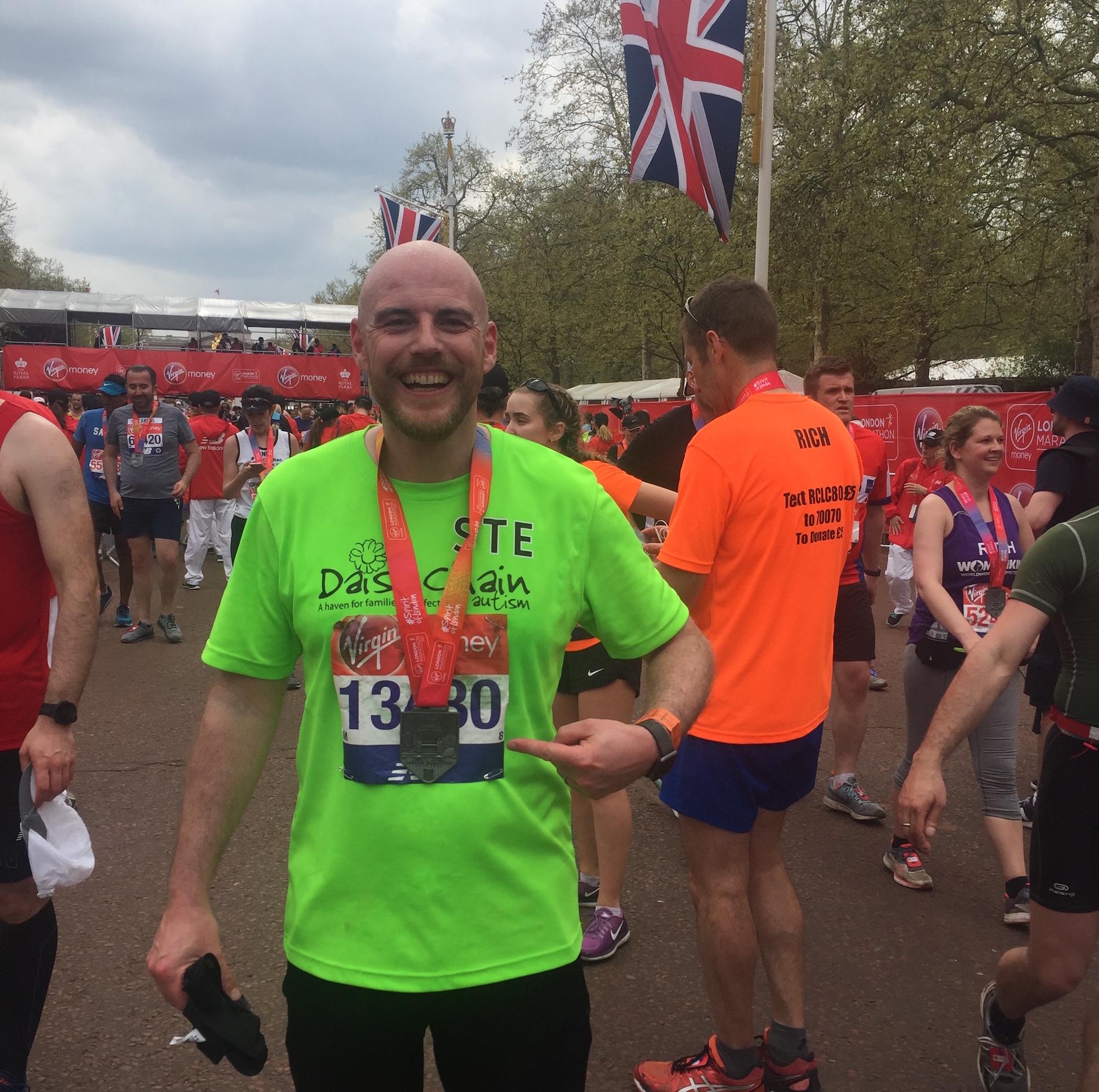 Ste conquers the London Marathon for Daisy Chain